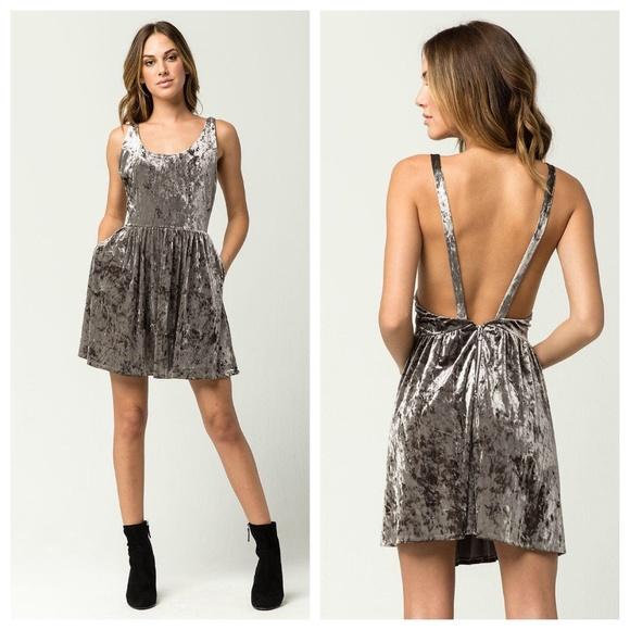 Volcom Dresses & Skirts - Volcom X Georgia May Jagger Crushed Velvet Dress